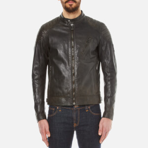Belstaff Men's Sandway Leather Blouson Jacket - Vintage Black