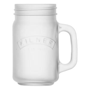 Kilner Frosted Handled Jar - White 0.4L