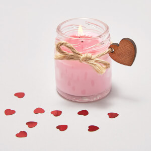 Mini Rose Velvet and Precious Oud Heart Candle (Valentine's Box)