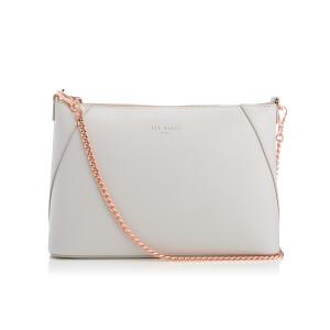 Ted Baker Women's Chania Minigrain Chain Strap Cross Body Bag - Light Grey