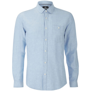 Threadbare Men's Butterbean Long Sleeve Shirt - Blue