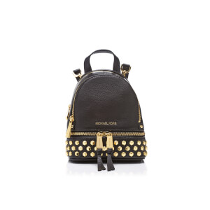 MICHAEL MICHAEL KORS Women's Rhea Zip Studded XS Messenger Backpack - Black