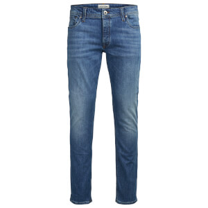 Jack & Jones Men's Originals Mike Straight Fit Jeans - Blue Mid Wash Denim