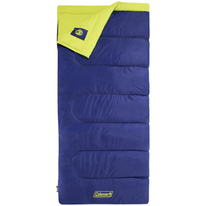 Coleman Heaton Peak 220 Sleeping Bag - Blue/Yellow - Single
