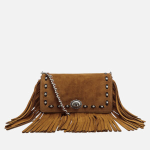 Coach Women's Suede Fringe Dinky Cross Body Bag - Oak