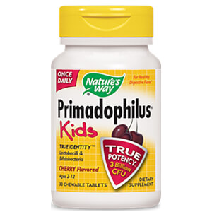Nature's Way Children's Primadophilus Chewable Tablets - Cherry - 30 Tablets