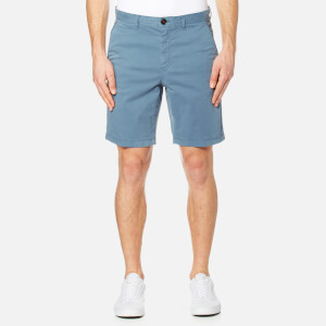Michael Kors Men's Slim Garment Dye Shorts - Blue Grey