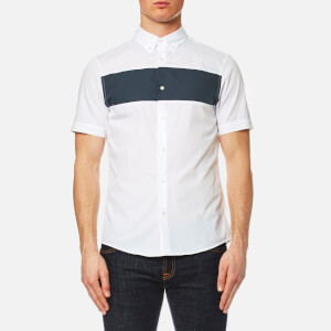 Michael Kors Men's Short Sleeve Colour Block Shirt - White