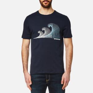 Michael Kors Men's Three Waves Graphic T-Shirt - Midnight