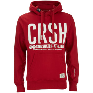 Crosshatch Men's Birchtree Logo Hoody - Scooter Red