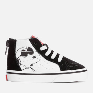 Vans X Peanuts Toddlers' Sk8 Hi Zip Trainers - Joe Cool/Black