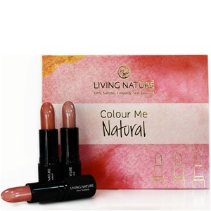 Living Nature Colour Me Natural Lipstick Set - 3 Natural Shades (Worth £60.00)