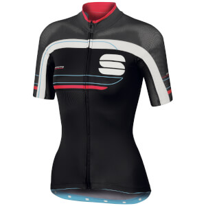 Sportful Women's Gruppetto Pro Short Sleeve Jersey - Black/Grey/Pink