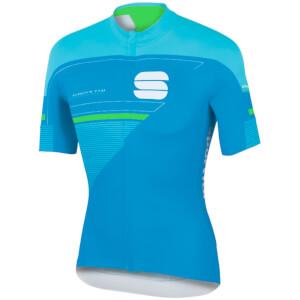Sportful Gruppetto Pro LTD Short Sleeve Jersey - Blue/Green