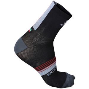 Sportful BodyFit Pro 9 Socks - Black/White/Red