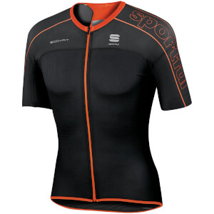 Sportful BodyFit Ultra Light Short Sleeve Jersey - Black/Red