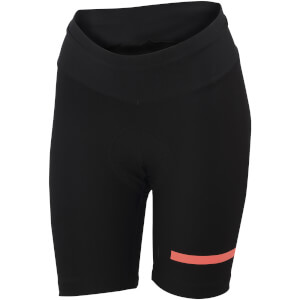 Sportful Women's Giara Shorts - Black/Coral Fluo