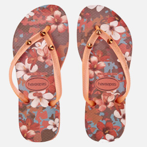Havaianas Kids' Slim Style Flip Flops - Orange Cyber