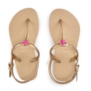 Havaianas Kids' Freedom Flip Flops - Sand Gold