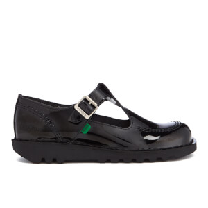 Kickers Women's Kick Lo Aztec Patent T-Bar Shoes - Black