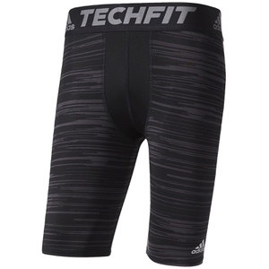 adidas Men's TechFit Base GFX Compression Shorts - Black