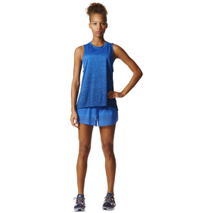 adidas Women's Boxy Melange Tank Top - Blue