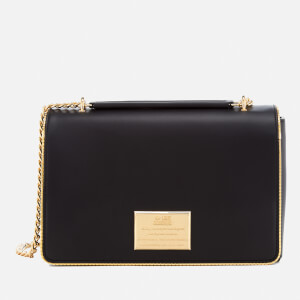Love Moschino Women's Gold Plate Shoulder Bag - Black