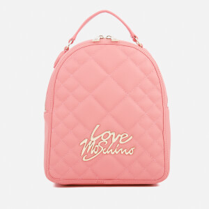 Love Moschino Women's Matt Quilted Backpack - Pink