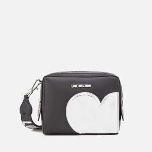 Love Moschino Women's Mirror Heart Camera Bag - Black