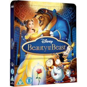 Beauty & The Beast 3D (Includes 2D Version) Zavvi Exclusive Lenticular Edition Steelbook