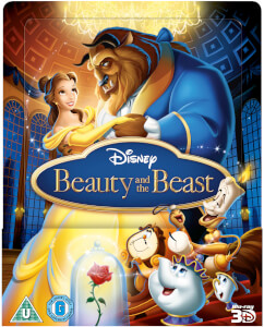 Beauty & The Beast 3D (Includes 2D Version) - Zavvi UK Exclusive Lenticular Edition Steelbook