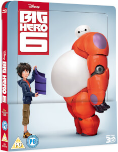 Big Hero 6 3D (Includes 2D Version) Zavvi Exclusive Lenticular Edition Steelbook: Image 2