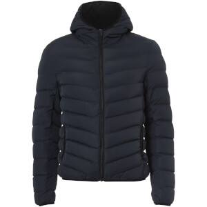 Brave Soul Men's Grant Padded Hooded Jacket - Navy