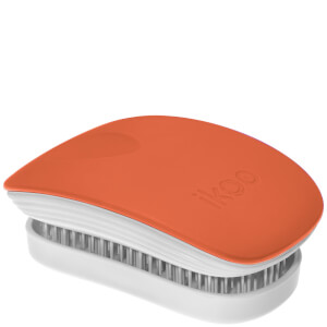 ikoo Pocket Hair Brush - White - Orange Blossom