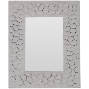 Cadre Photo Aluminium Effet Frotté 25 cm x 20 cm -Blanc