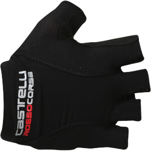 Castelli Rosso Corsa Pave Gloves - Black/White