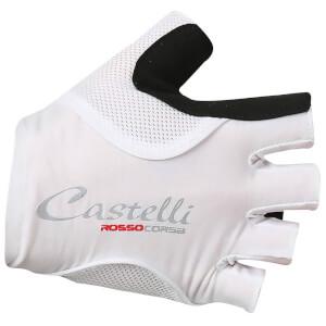 Castelli Women's Rosso Corsa Pave Gloves - White/Black