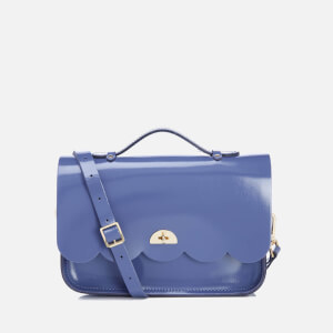 The Cambridge Satchel Company Women's Cloud Bag With Handle - Patent Dusk Blue