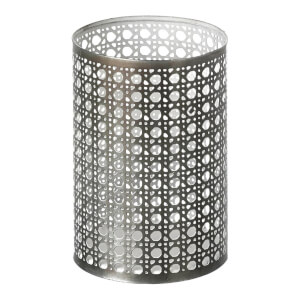 Parlane Toronto Metal Tealight Holder - Grey/White (13.5 x 9cm)