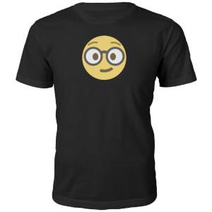 Emoji Unisex Nerd Face T-Shirt - Black