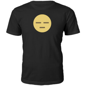Emoji Unisex Meh Face T-Shirt - Black