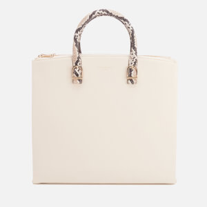 Aspinal of London Women's Editors Tote Bag - Embossed Python