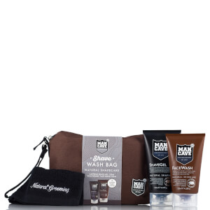 ManCave Shave Wash Bag - 4 Piece Gift Set