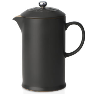 Le Creuset Stoneware Cafetiere Coffee Press - Satin Black
