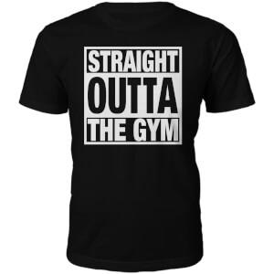 T-Shirt Unisexe Straight Outta The Gym -Noir