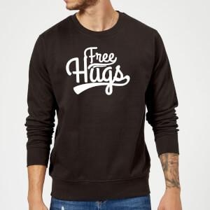 Free Hugs Slogan Sweatshirt - Schwarz