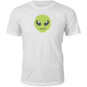 Emoji Unisex Alien Face T-Shirt - White