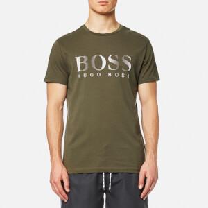 BOSS Hugo Boss Men's Large Logo Swim T-Shirt - Dark Green