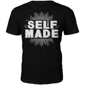 T-Shirt Unisexe Self Made -Noir