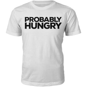 Probably Hungry Heren T-Shirt  - Wit